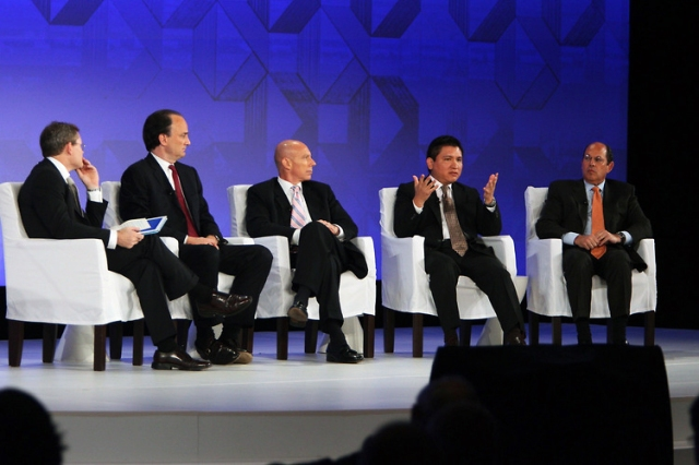 Daniel Coleman, CEO, GETCO, with Michael Mackenzie, Financial Times, Jeff Jennings, Credit Suisse, Edgar Perez, The Speed Traders, and Richard Prager, BlackRock